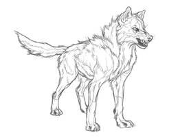 Korbin Sketch by markedwolf