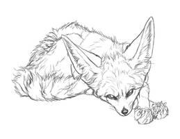 Rhea Sketch by markedwolf