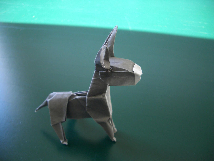 donkey origami by mitanei on deviantart