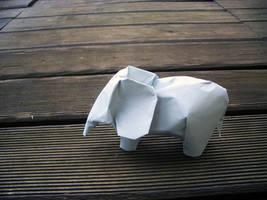 Elephant - Origami by mitanei