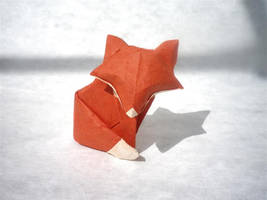 A simple Fox - Origami by mitanei
