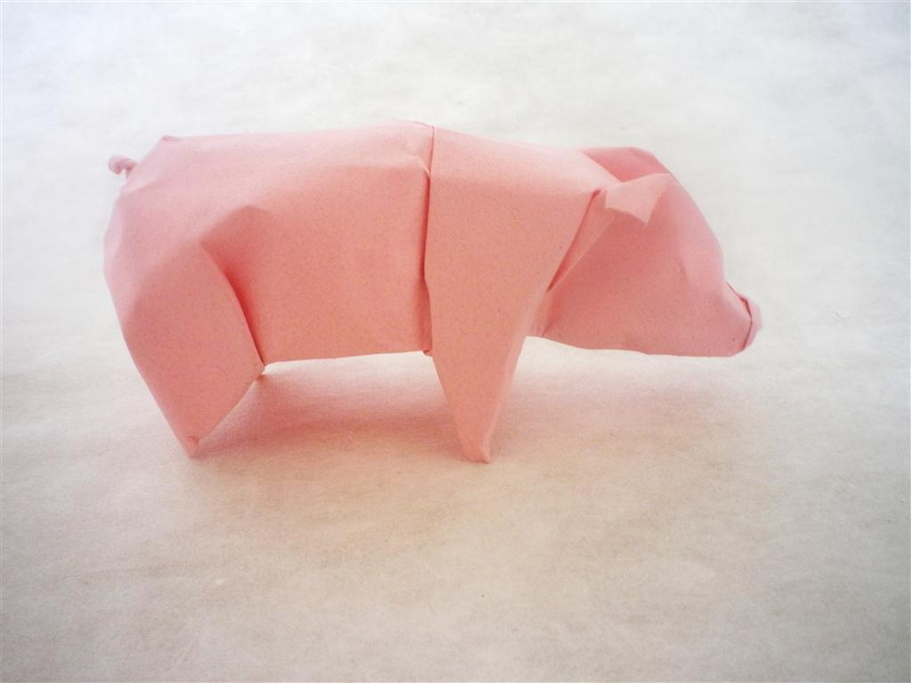 Pig - Origami by mitanei