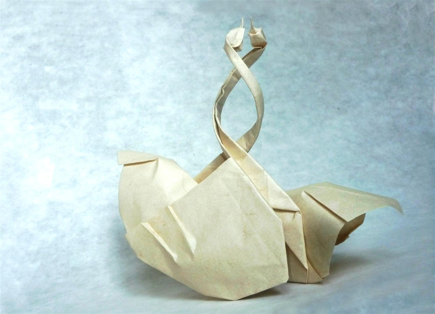 Entangled Swans - Origami by mitanei on DeviantArt - photo#20
