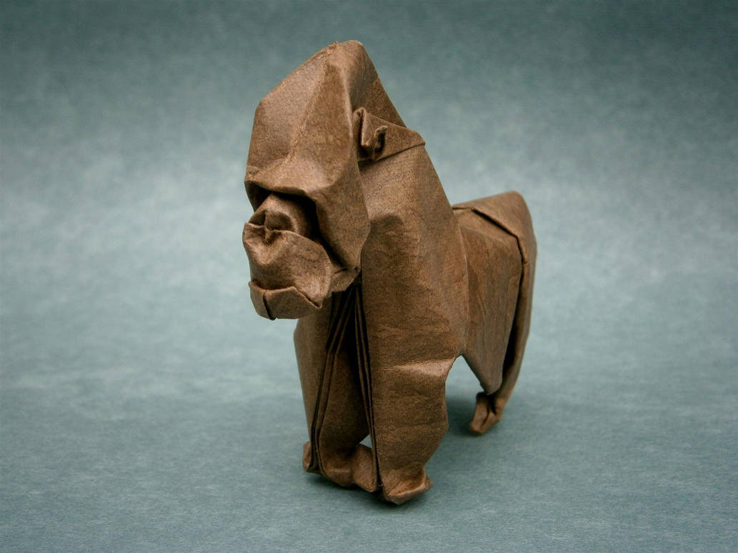 Gorilla - Origami by mitanei