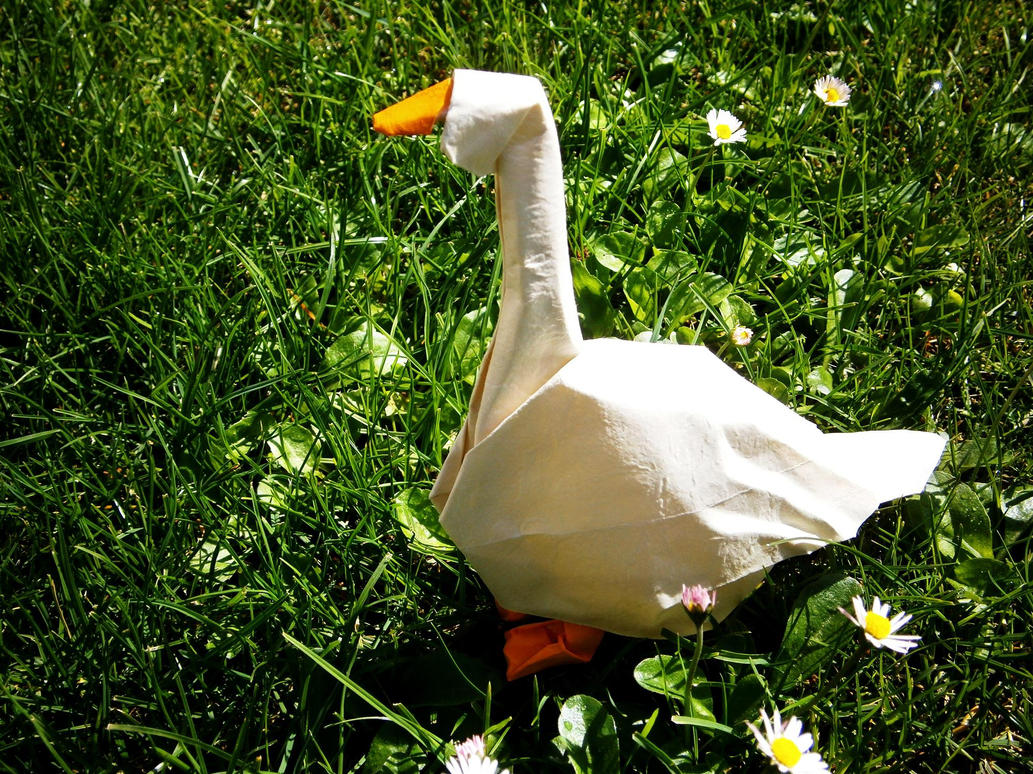 Goose - Origami by mitanei