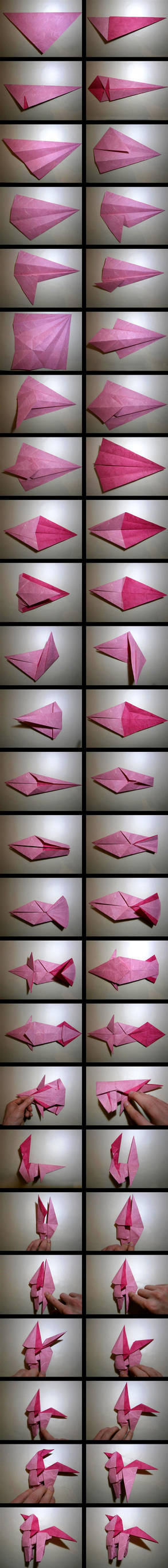 Pinkie Pie Origami Folding Process