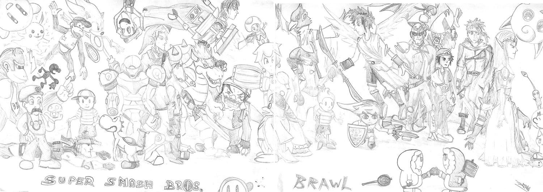 super smash brawl coloring pages