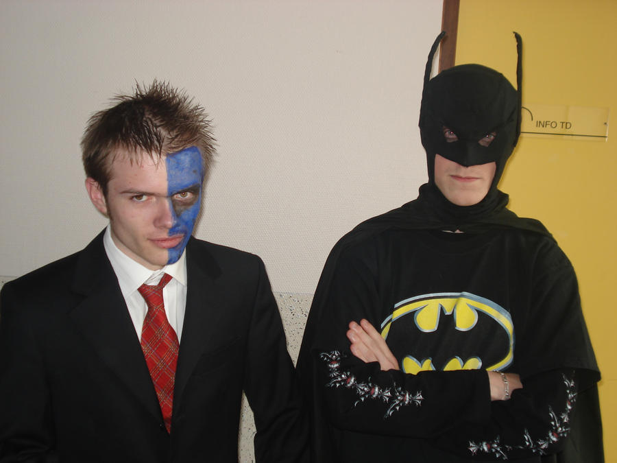 batman and two face by batman the blind