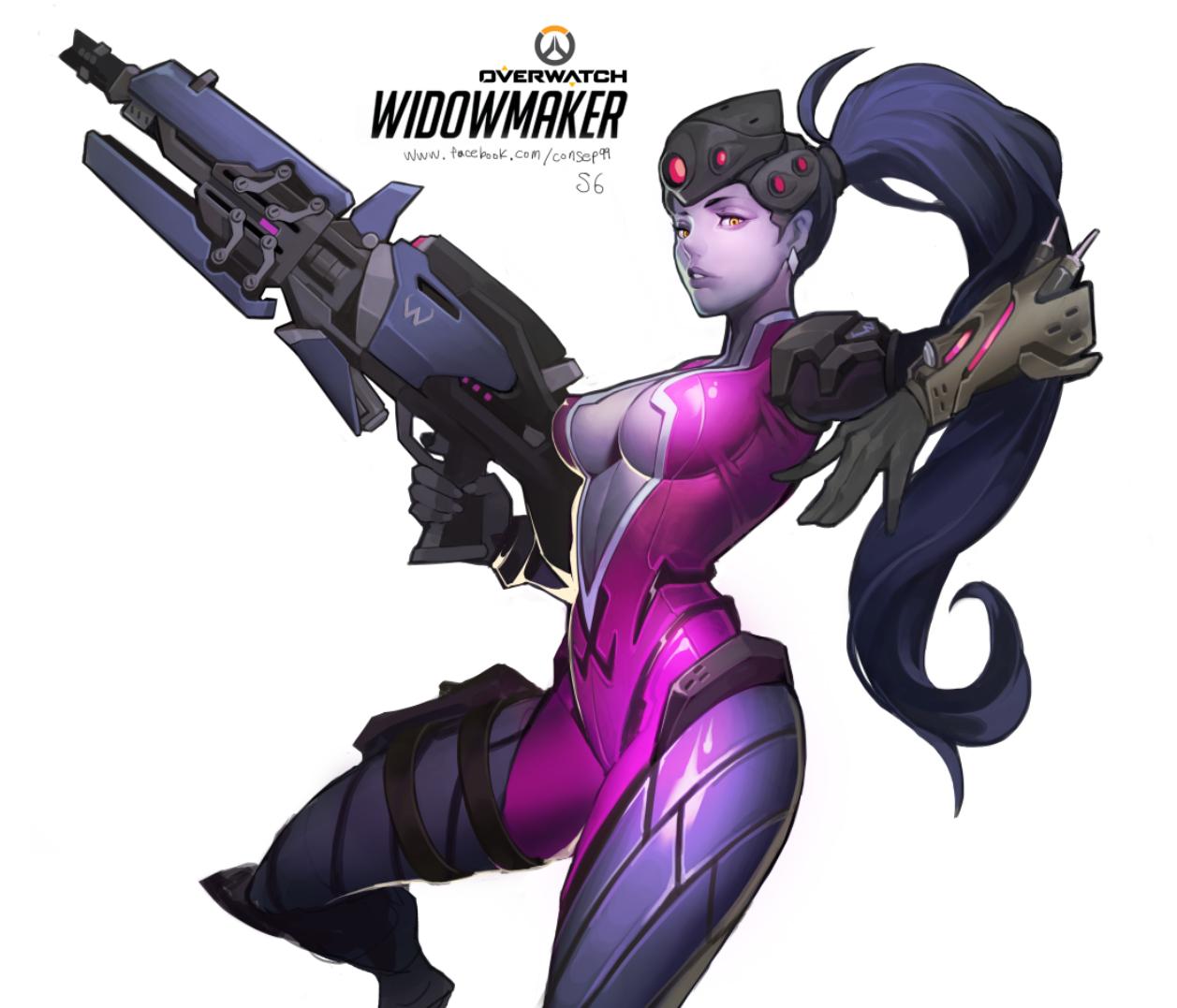 overwatch widowmaker fanart