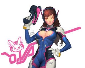 overwatch dva fan art
