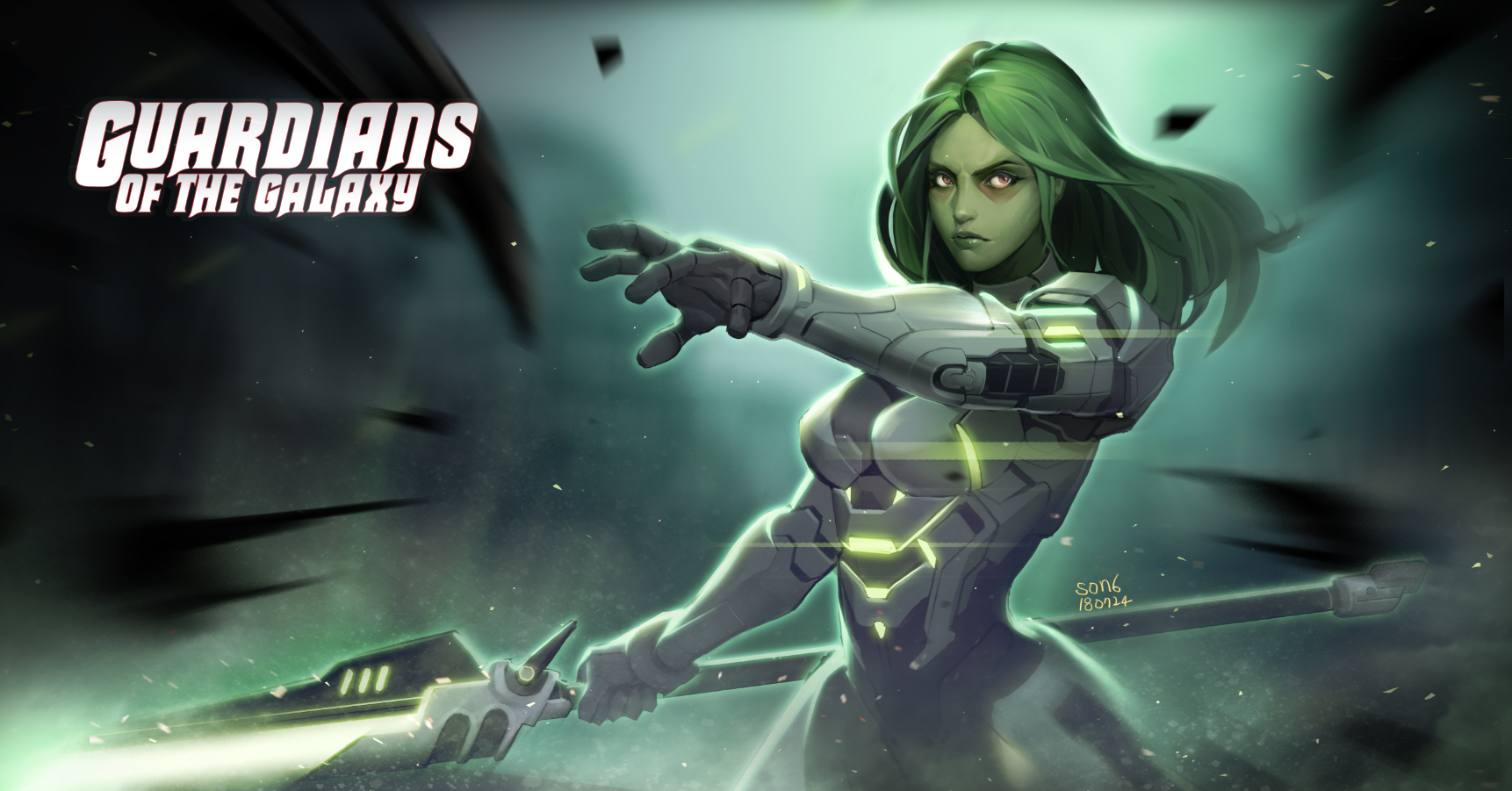 guardians of the galaxy gamora fanart