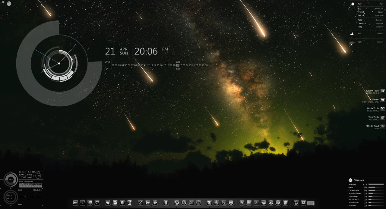 My first rainmeter desktop by coloradodev on deviantart for Deviantart rainmeter