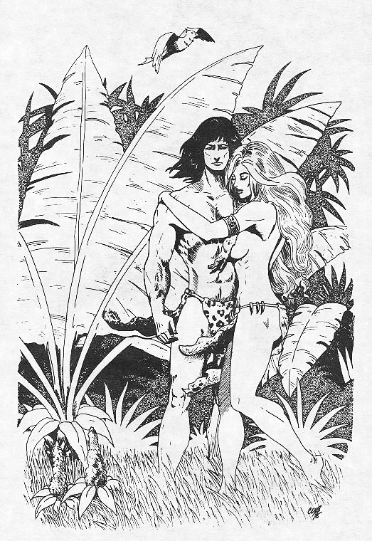 Tarzan and Jane together by cwbird