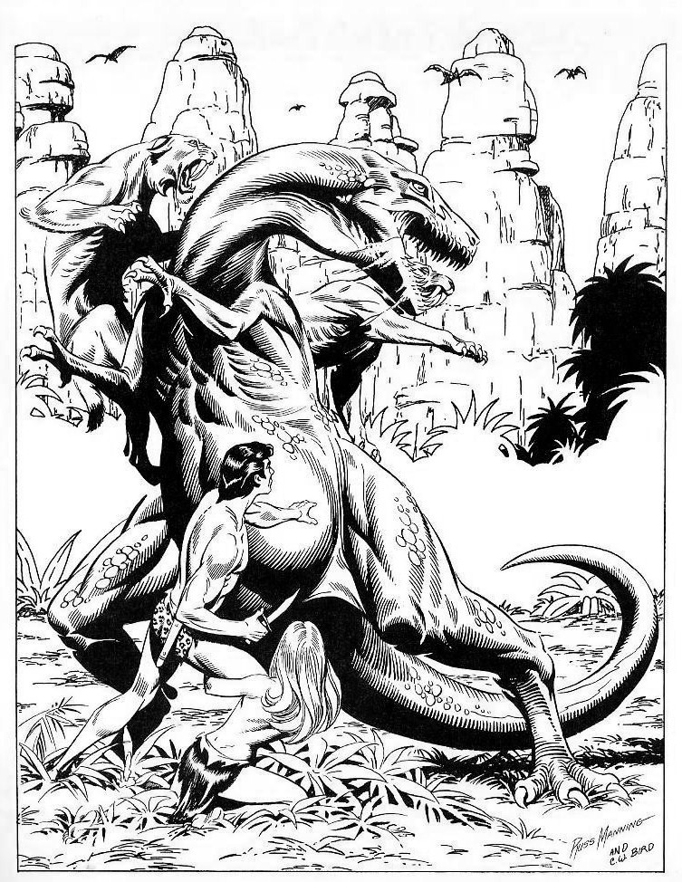 Tarzan By Russ Manning And Cwb By Cwbird On Deviantart