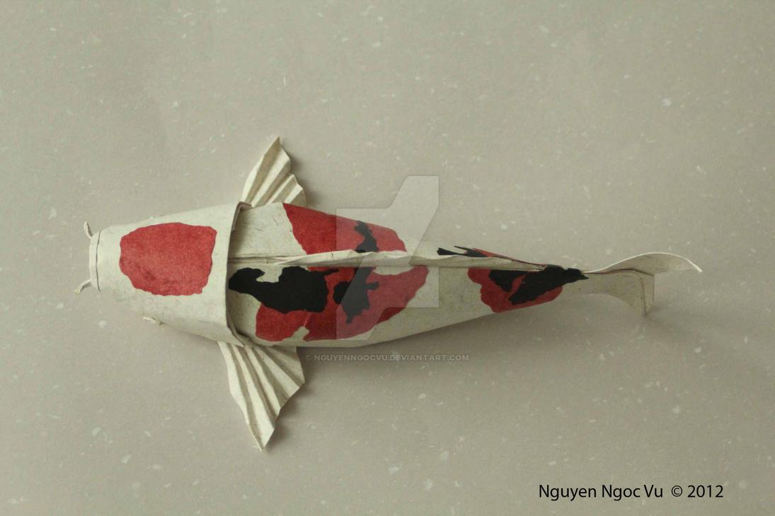 Koi fish by nguyenngocvu on deviantart for Origami koi fish tutorial