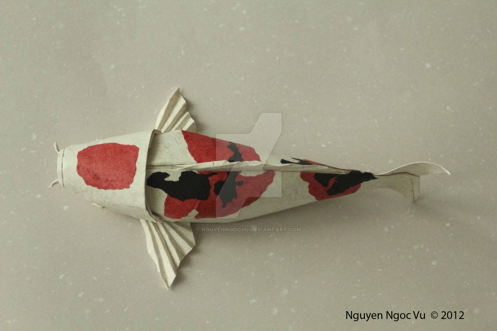 Koi fish by nguyenngocvu on deviantart for Origami koi fish