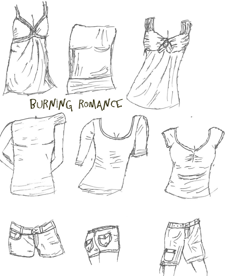 Clothing Sketches by BurningRomance on DeviantArt