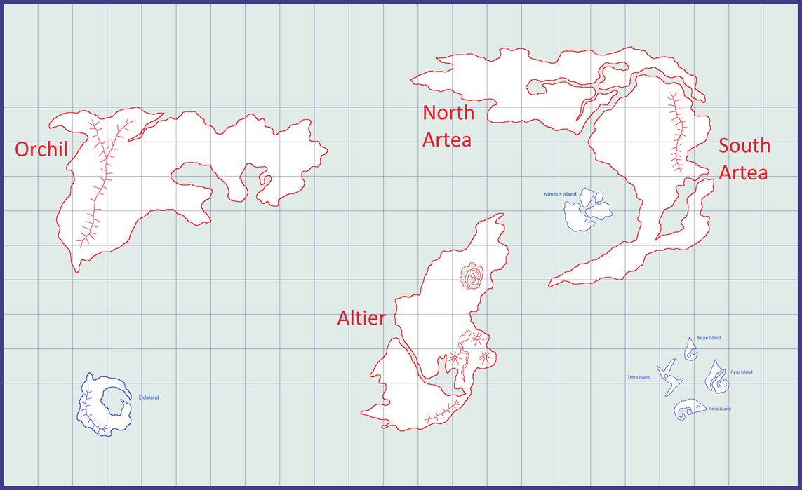 world map labbelled continents and islands by mira55x
