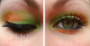 Green Orange Eyeshadow