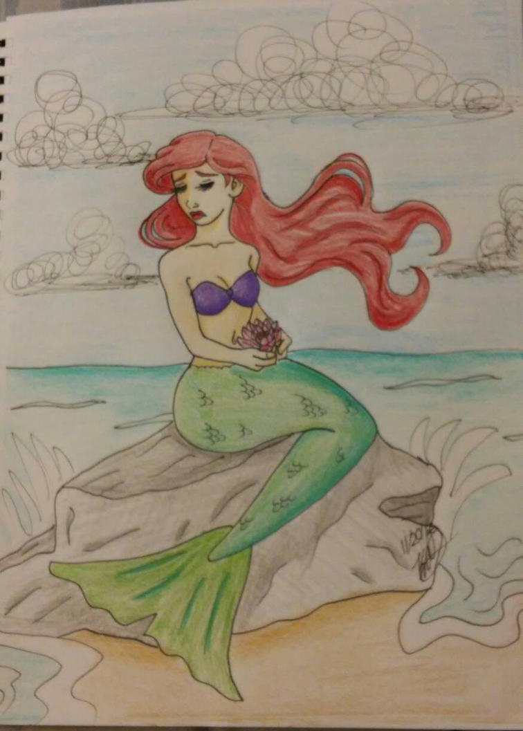 the little mermaid 2016 colored by Bella-Who-1