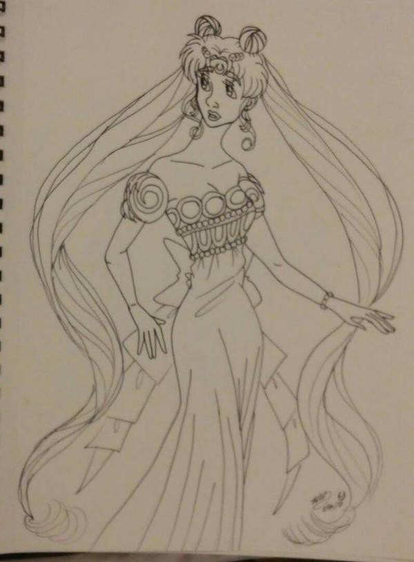 wip princesses Serenity by Bella-Who-1