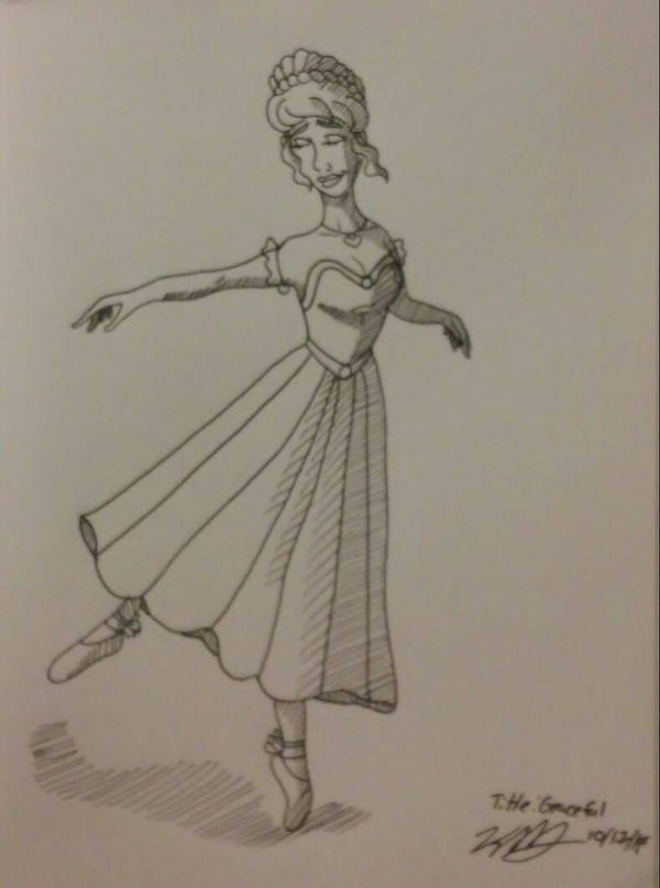 Inktober day 17 graceful by Bella-Who-1