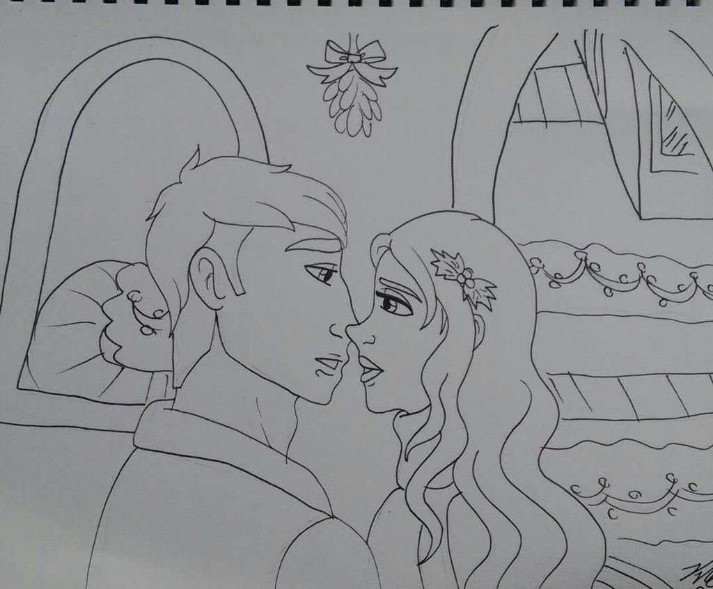 Christmas mistletoe by Bella-Who-1