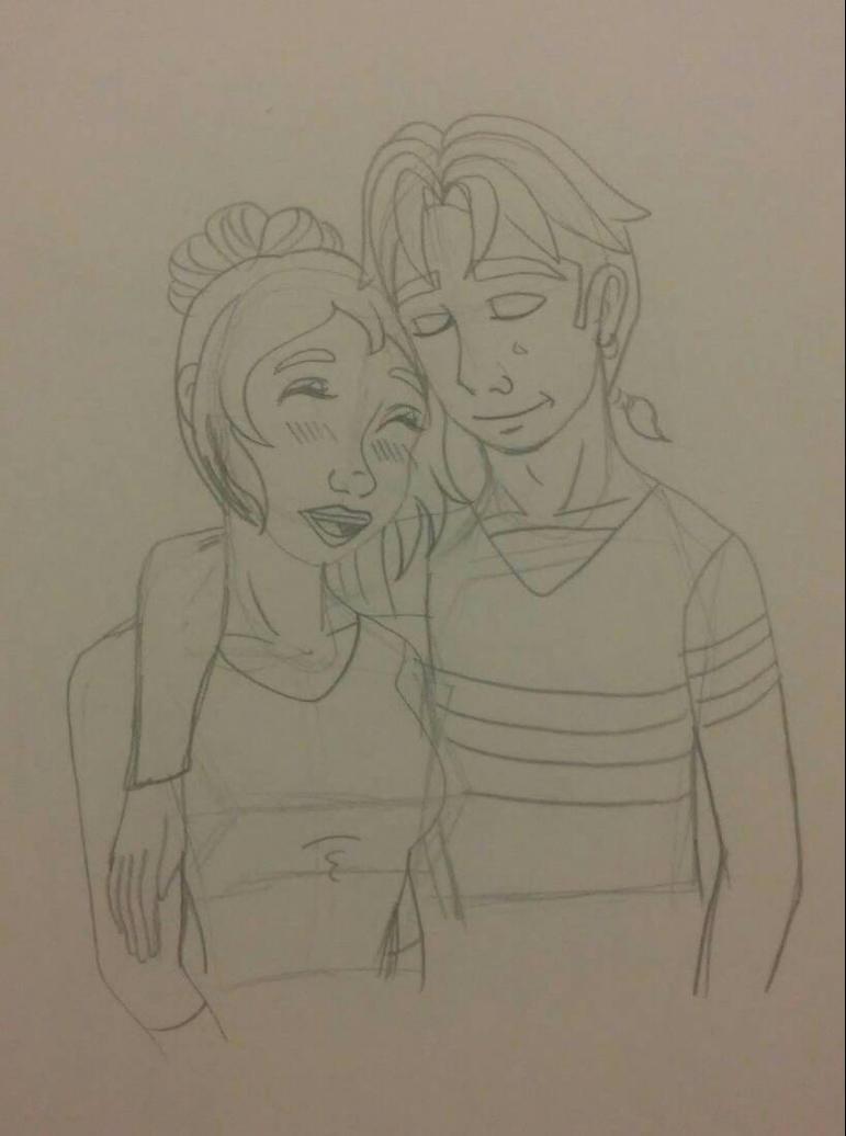 Rebekah and Jim date sketch by Bella-Who-1