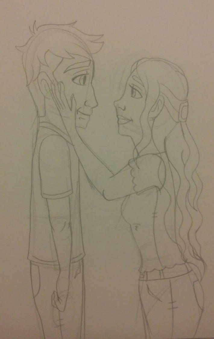John and Tamera date sketch by Bella-Who-1