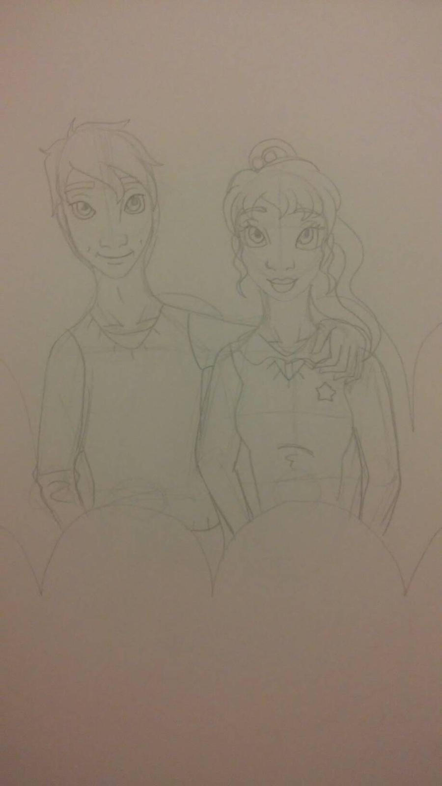 Alan and Karin date sketch by Bella-Who-1