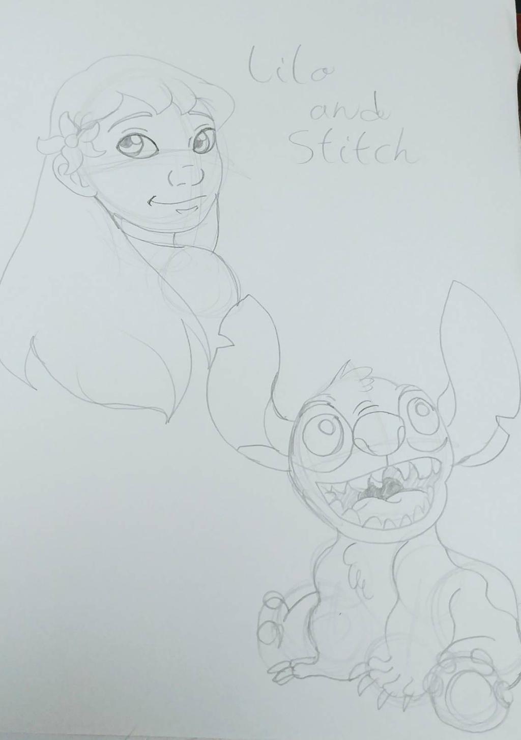 Lilo and Stitch sketch by Bella-Who-1