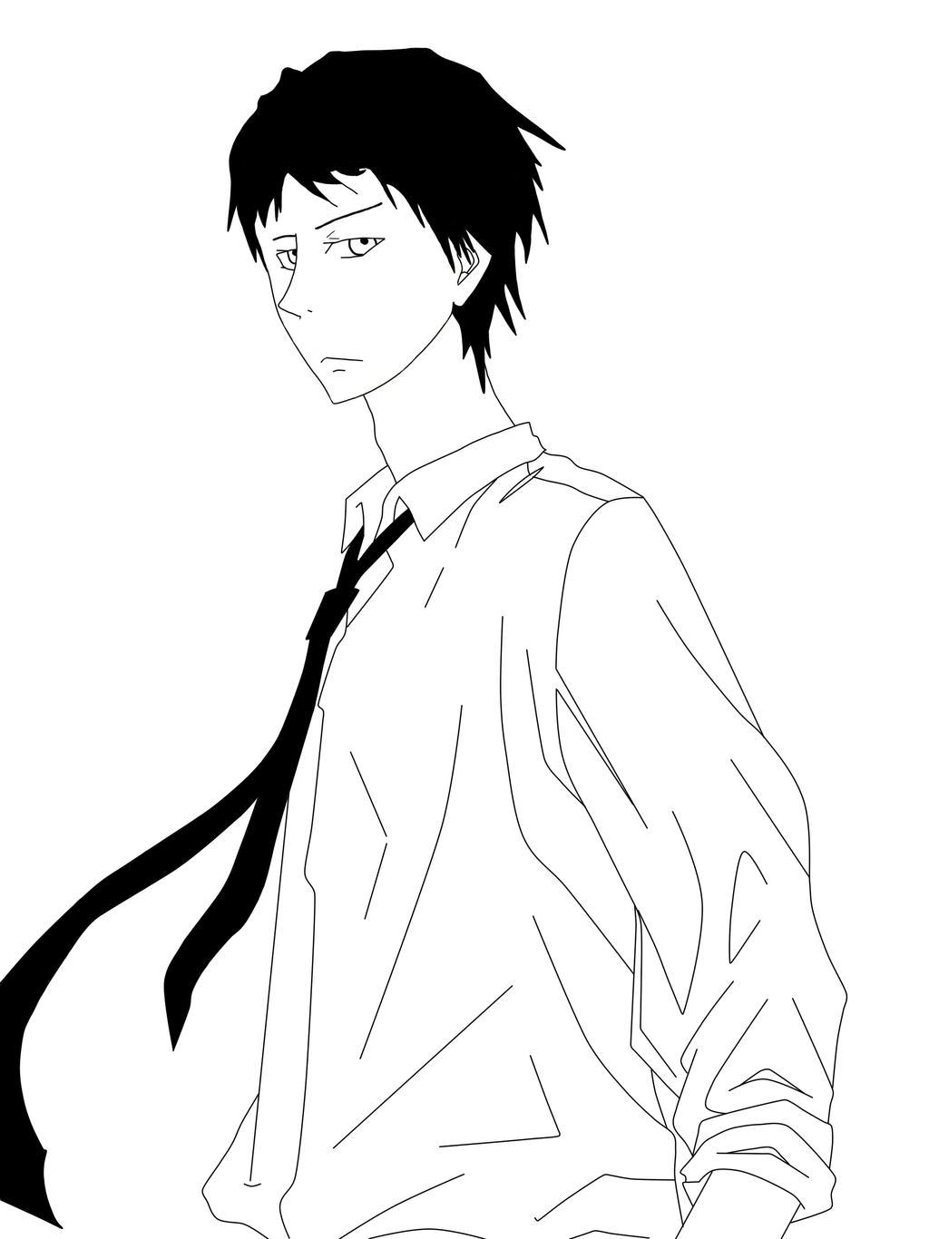 Line Art Kuroko : Kuroko no basket nijimura shuzo line art by saiduck on