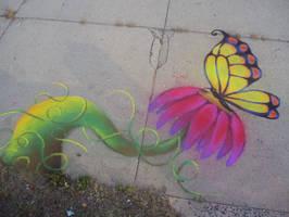 Chalk Drawing by DemonGemini6