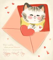 Vintage Valentine - Kitten by DemonGemini6