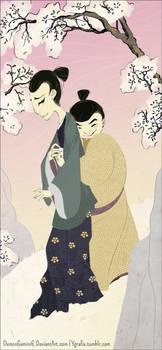 Commission: Kikka and Kuroneko