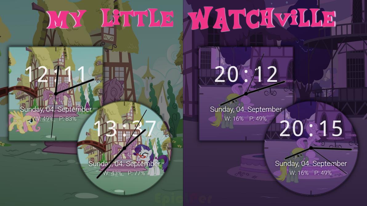 My Little Watchville - Facer.io by EpicLPer