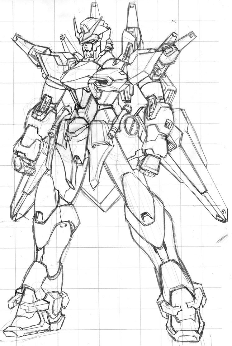 Imperial Gundam - rough by Rekkou