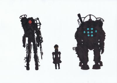 Bioshock Family Silhouette by 8BitSnake on DeviantArt
