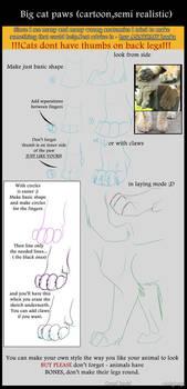 Tutorial - Big cat paws