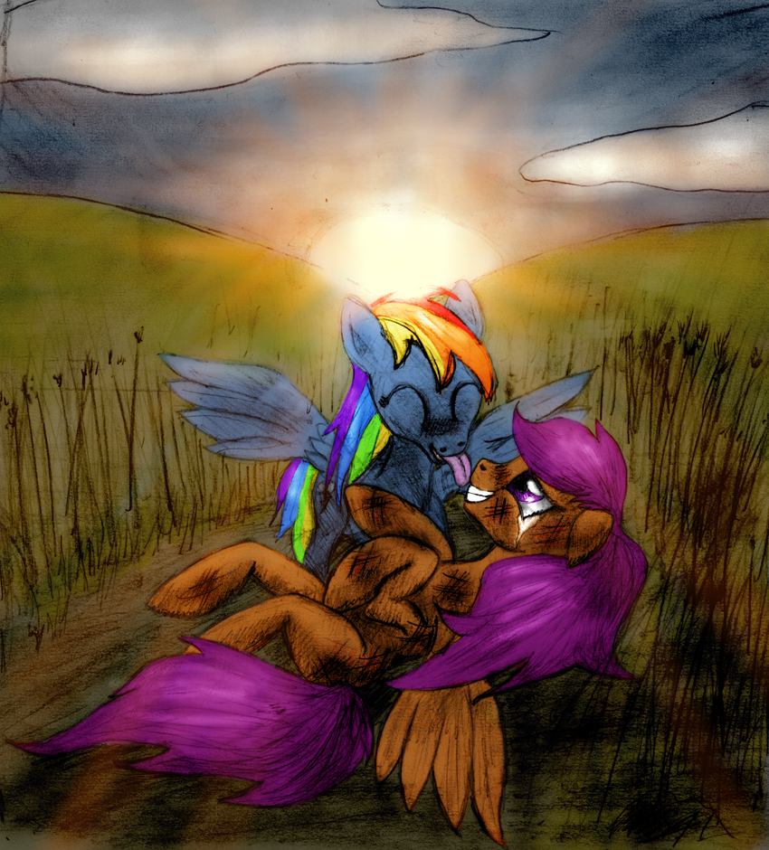 Scootaloo And Rainbow Dash Kiss Scootaloo And Rainbow Dash 1
