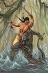Arak vs. Lizard man