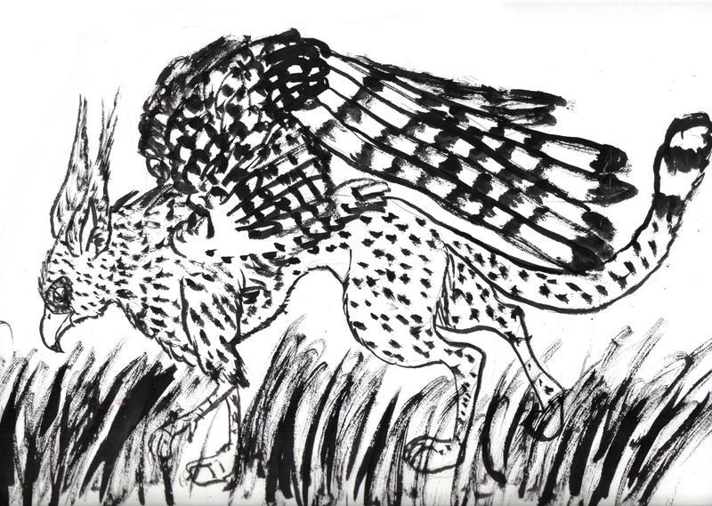 Cheetah Griffin by shininginthedarkness