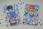 [Watercolor Cards_Couple] by AoshiNiKo