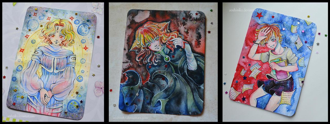 [Watercolor Cards 3] by AoshiNiKo