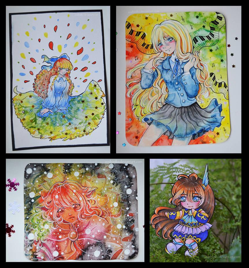 [Watercolor Cards 4] by AoshiNiKo