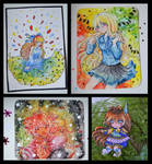 [Watercolor Cards 4] by AoshiNiKo