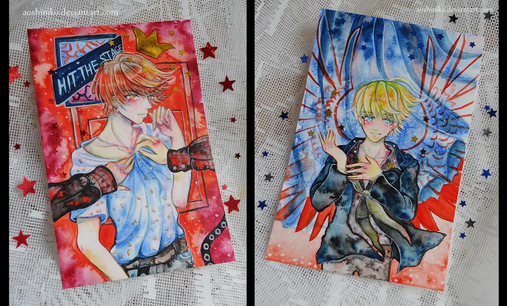 [Watercolor Cards 5] by AoshiNiKo