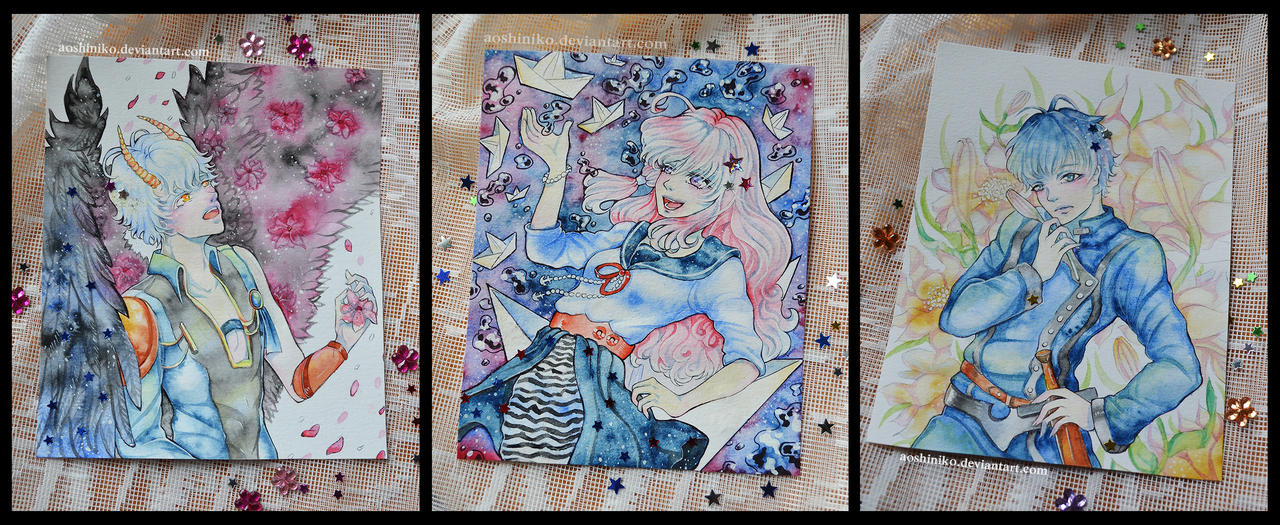 [Watercolor Cards 7] by AoshiNiKo