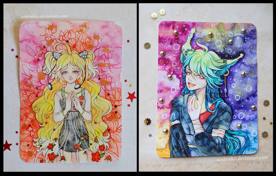 [Watercolor Cards 8] by AoshiNiKo