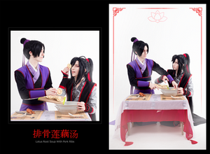 [ Cooking together for dear Shijie ]